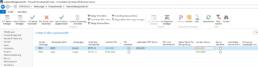Screenshot BC/NAV ERP Modul Fuhrpark - Ansicht Instandhaltungsübersicht
