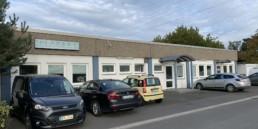 Frontansicht Firmengebäude DMS-Systemhaus in Bayreuth