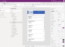 Screenshot App aus Eiqenentwicklung in Microsoft Power Apps