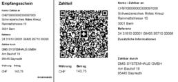 Screenshot BC/NAV ERP Modul SwissQR-Code